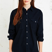 Vintage Renewal Heavy Cotton Shirt in Navy - Urban Outfitters