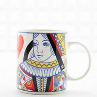 Queen of Hearts Mug in White - Urban Outfitters