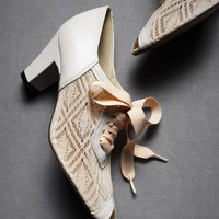 Deco Lace-Ups Off White in  SHOP Shoes  Accessories Shoes at BHLDN