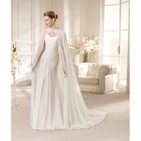 Newest Sweep Sheath Sweetheart Neckline Chiffon Wedding Dress