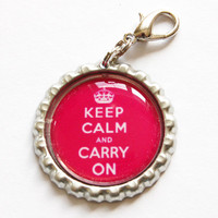 Keep Calm Carry On by KellysMagnets
