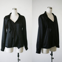 Elie Tahari black silk blouse Medium