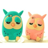 Cute Owl Silicone Phone Case For iPhone