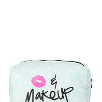 Polka Dot Kiss & Makeup Cosmetic Bag
