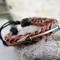 braceletantique bronze arrow real by deity86