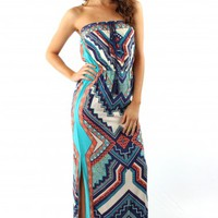 Jade-Walking Print Maxi