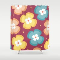 Floral Pattern 4 Shower Curtain by mollykd