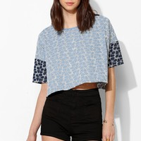 Lucca Couture Denim Oversized Cropped Top - Urban Outfitters