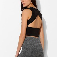 Sparkle & Fade Open-Back Cropped Top - Urban Outfitters