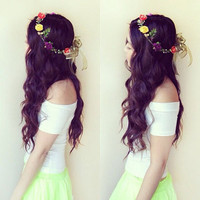 Multicolored Rose Crown