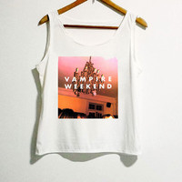 Vampire Weekend Rocker Shirt Women Girl Side Boob Tunic Tank Top