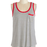 Dock of the Town Tank | Mod Retro Vintage Short Sleeve Shirts | ModCloth.com