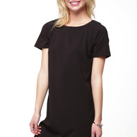Class Act Black Shift Dress