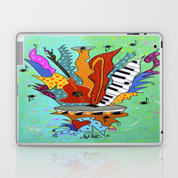 Blooming Notes V. Laptop & iPad Skin by Adka