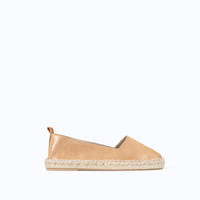 SHINY LEATHER SLIP-ON WITH ESPADRILLE SOLE