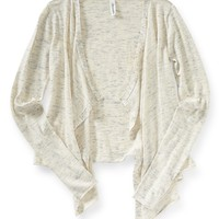 HEATHERED DRAPE CARDIGAN