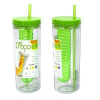 Fruit Infuser Water Bottle with Straw by D'Eco (1 pc)