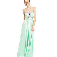 B. Darlin Strapless Sweetheart Beaded Gown | Dillards.com