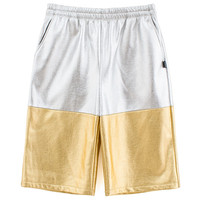 Silver and Gold Glimmer Long Shorts