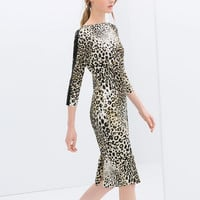 COMBINED LEOPARD PRINT DRESS
