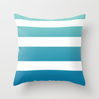 Ombre Surfer Stripe Throw Pillow by Color and Form