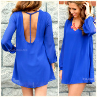 Anaheim Royal Blue T-Strap Back Dress