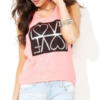 Deep Armhole French Terry Tank and Mirrored Love Screen
