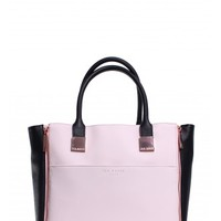 Ted Baker Leyah Crosshatch Shopper in Black