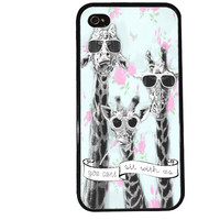 Cool Giraffes Case / You Cant Sit With Us iPhone 4 Case Hipster iPhone 5 Case iPhone 4S Case iPhone 5S Case Mean Girls Funny Quote iPhone 5C