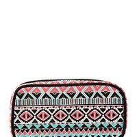 Tribal Print Travel Cosmetic Brush Set