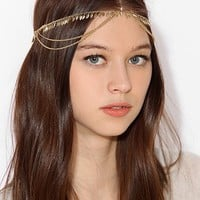 Leaf Fringe Goddess Chain Headwrap - Urban Outfitters