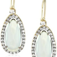 Kalan by Suzanne Kalan Chalcedony Pear Shape Wire Drop Earrings