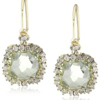 Kalan by Suzanne Kalan Green Envy Topaz Cushion Cut Wire Drop Earrings