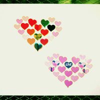 Heart Deco Sticker Set