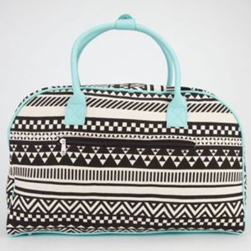 Ethnic Print Duffle Bag
