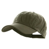 Low Profile Dyed Cotton Twill Cap - Olive W36S53F