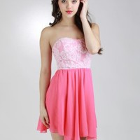 Lace Dress With Chiffon