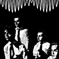 SV1818 Arctic Monkeys Painting Art Indie Rock Band Music BW Art 24x18 Print POSTER