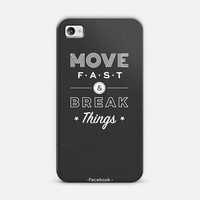 Move Fast & Break Things | Design your own iPhonecase and Samsungcase using Instagram photos at Casetagram.com | Free Shipping Worldwide✈