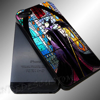 Maleficent Pattern Sleeping beauty Glass - iPhone 4/4s/5c/5s/5 Case - Samsung Galaxy S3/S4 Case iPod 4/5 Case - Black or White