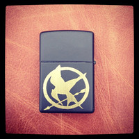 Custom engraved Mocking Jay Hunger Games lighter, engraved Zippo lighter made in the USA