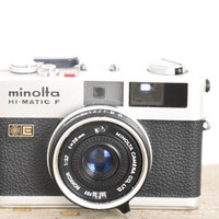Vintage Minolta Hi-Matic F Camera // 35mm Rangefinder