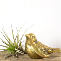 Vintage Brass Bird Figurine