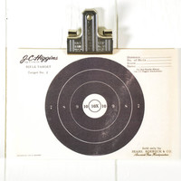 Vintage Paper Shooting Target // Rifle1950s Original
