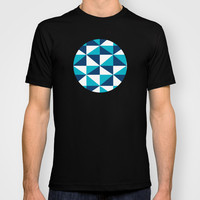 Geometric Pattern 4-Blue  T-shirt by mollykd