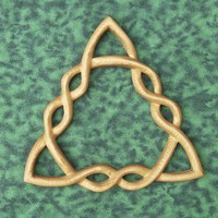 Braided Triquetra - Wood Carved Variation-Celtic Goddess-Holy Trinity | signsofspirit - Woodworking on ArtFire