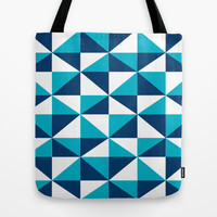 Geometric Pattern 4-Blue  Tote Bag by mollykd