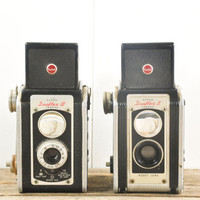Collection of Two Vintage Kodak Duaflex Cameras // Twin Reflex Box Camera 1950s