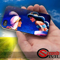 Aladdin and Princess Jasmine - iPhone 4/4S, 5/5S, 5C - Samsung Galaxy S3, S4 for Rubber and Hard Plastic Case