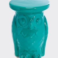 Owl Side Table in Turquoise - Urban Outfitters